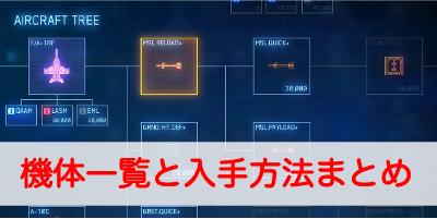 """【エースコンバット7】機体一覧と入手方法まとめ"""""""